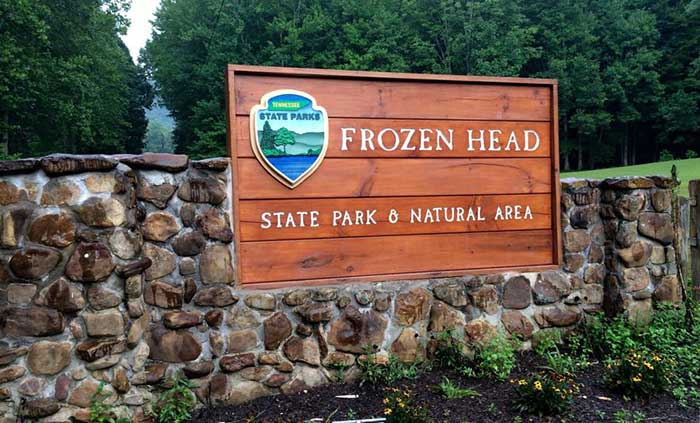 Welcome Sign at Frozen Head State Park, Wartburg, TN