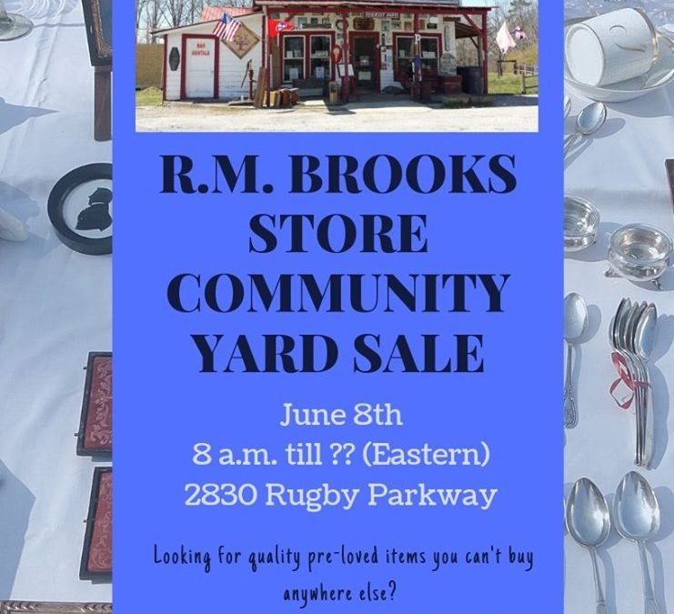 R. M. Brooks Store Community Yard Sale, Rugby TN